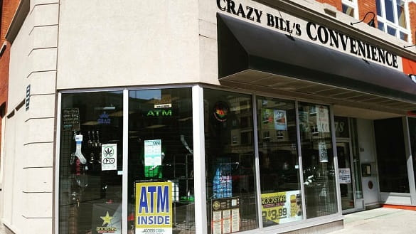Crazy Bill's head shop in downtown Brantford