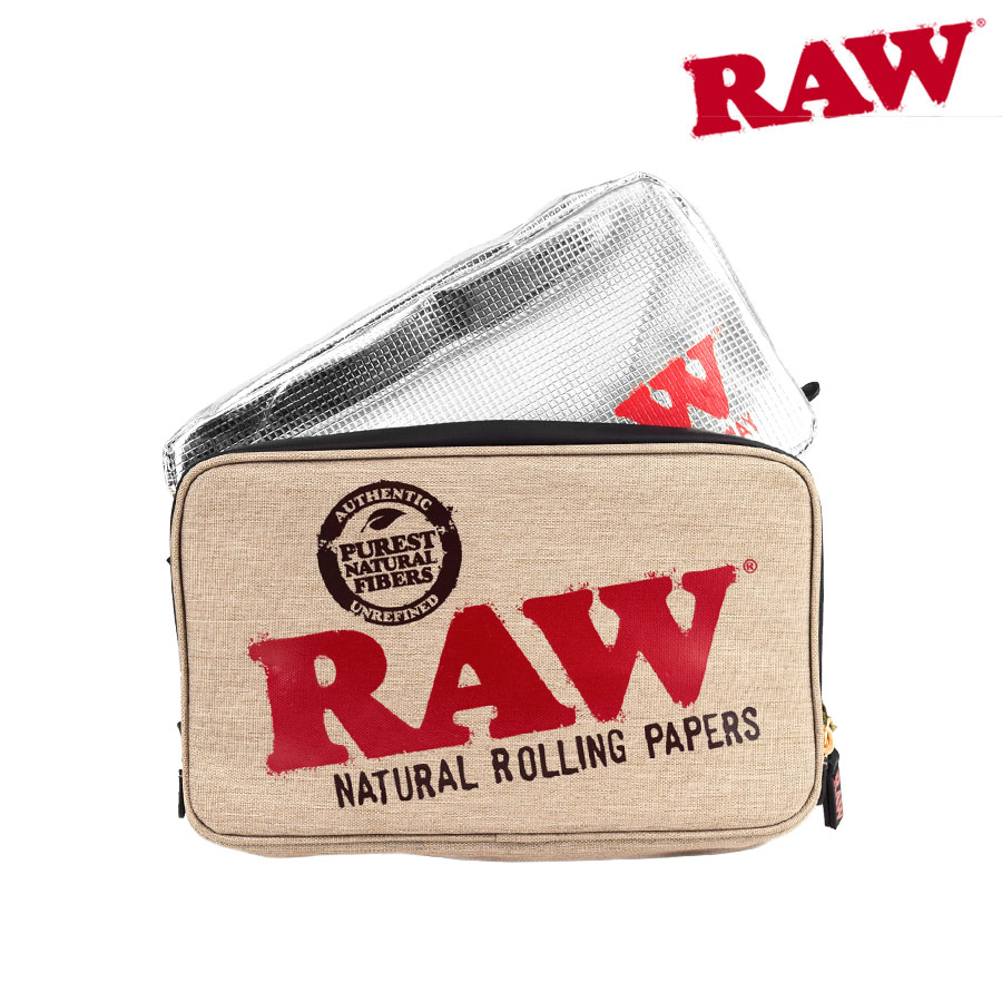 RAW Smell Proof Smokers Pouch- Natural