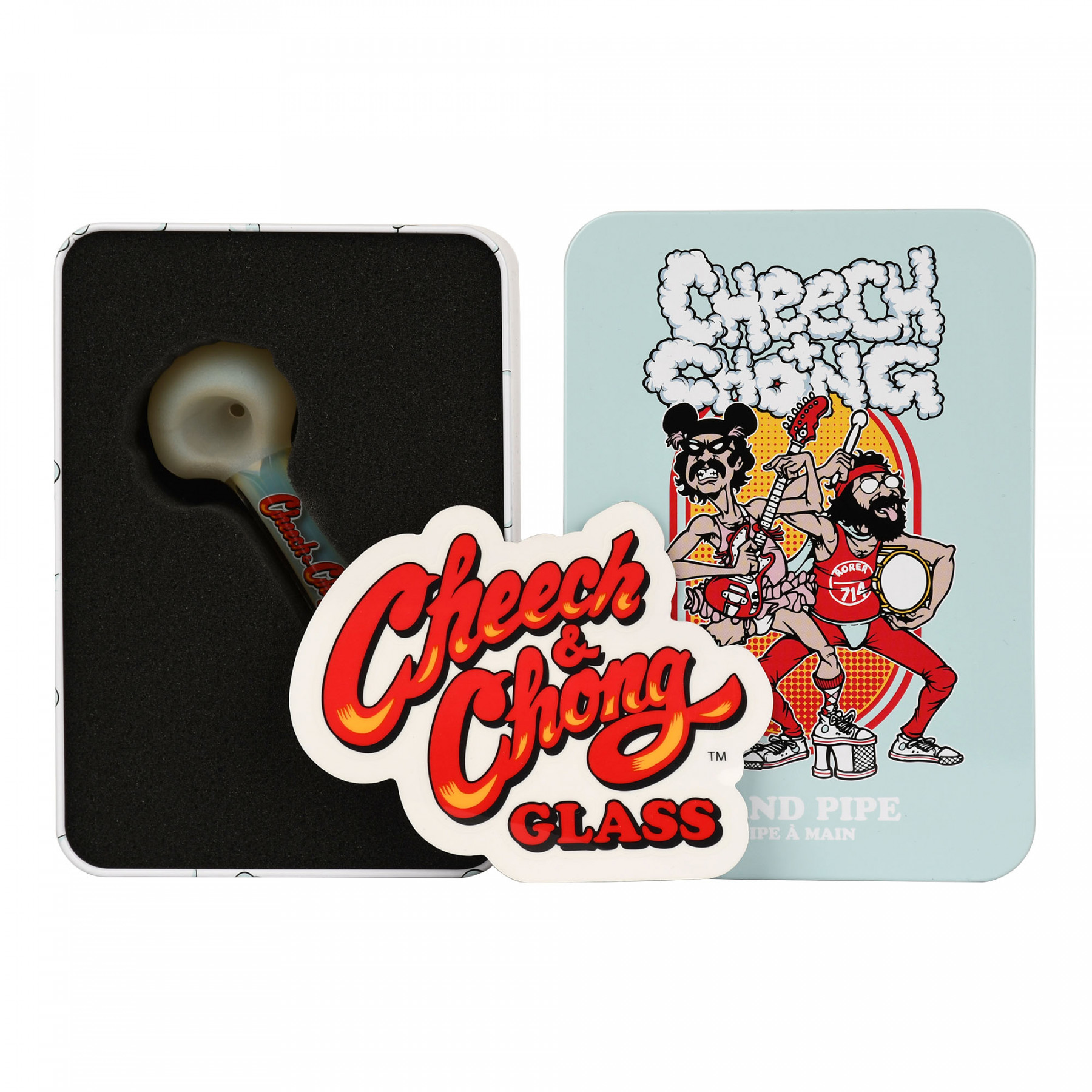Cheech & Chong Dodger Hand Pipe in a Collectible Tin