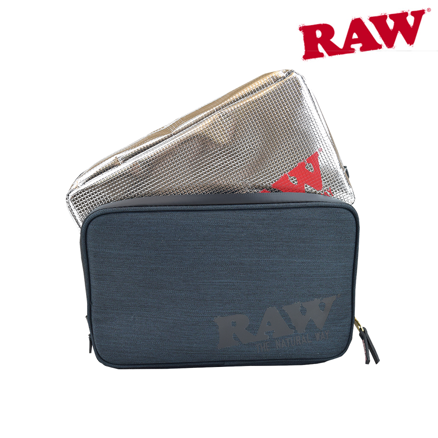 RAW SMELL PROOF SMOKERS POUCH- BLACK