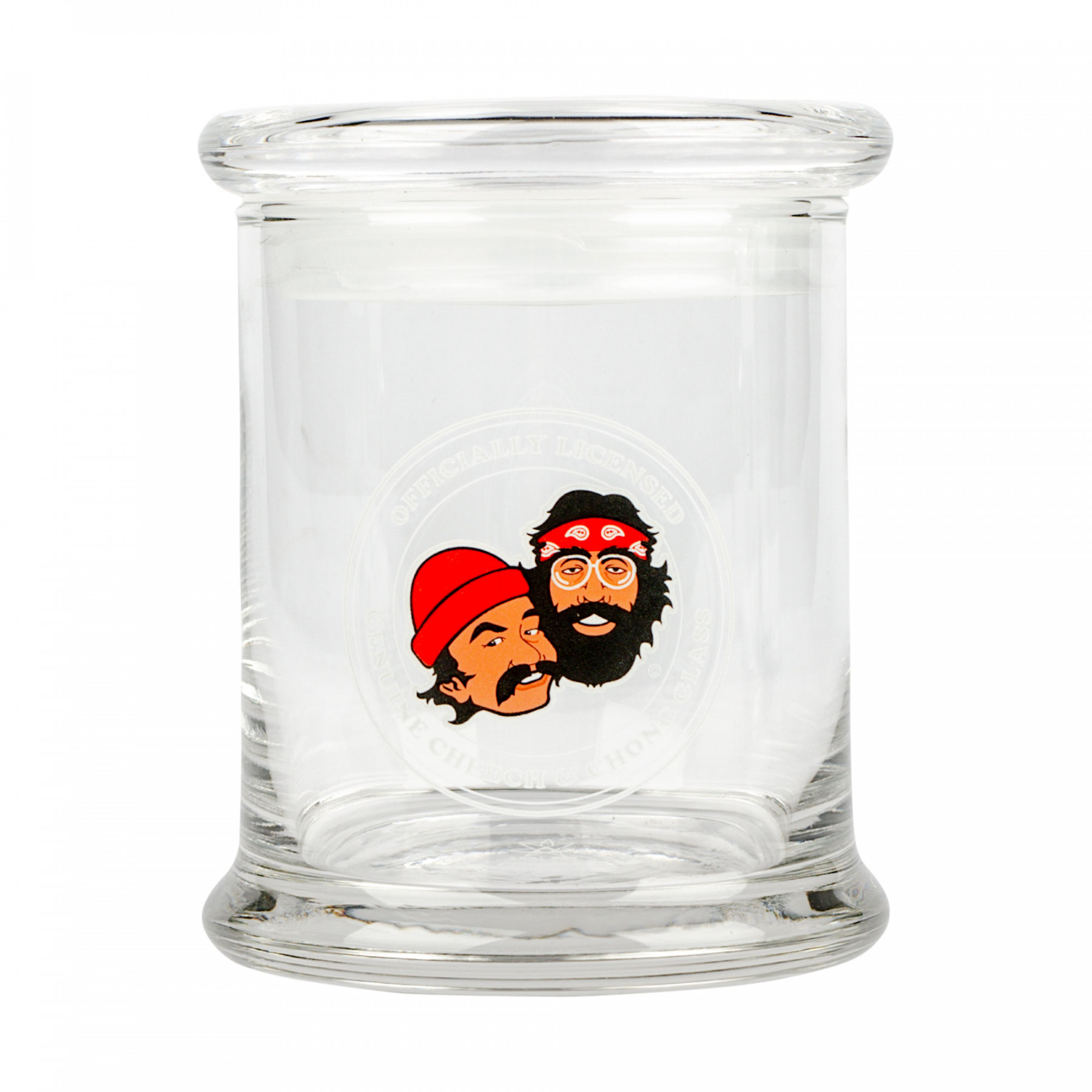 Cheech & Chong™ Glass Crest Pop Top Jar