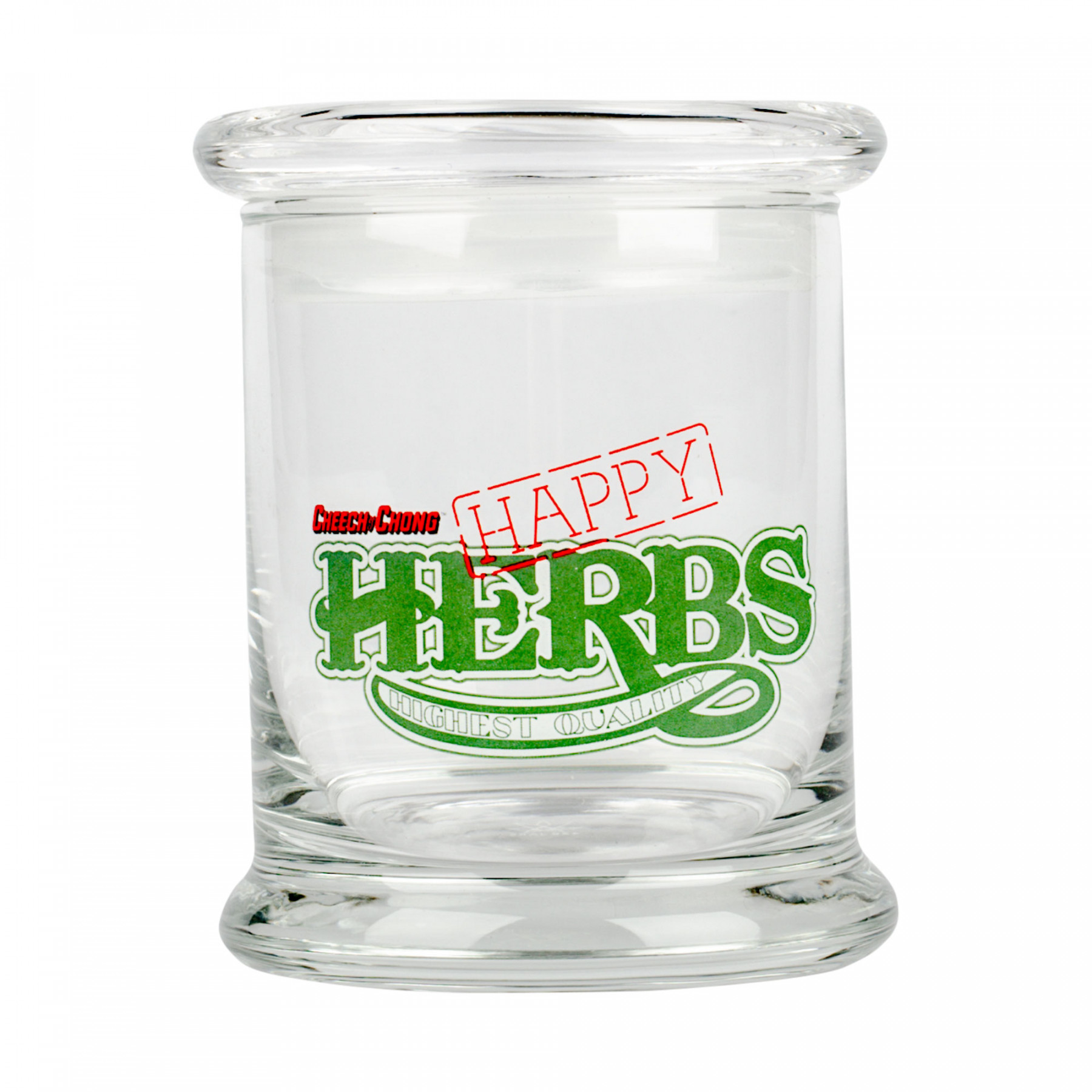 Cheech & Chong™ Glass Happy Herbs Pop Top Jar