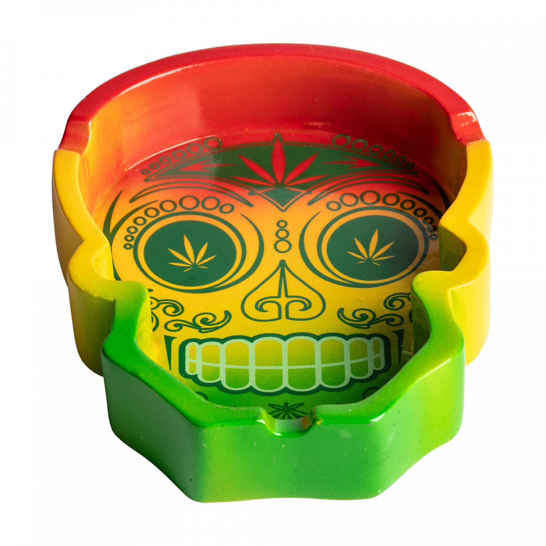 Day of the Dead Rasta Ashtray