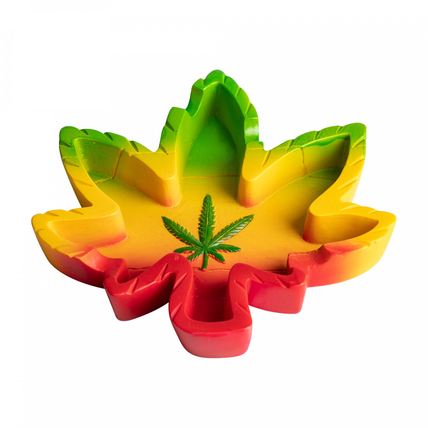 Jamaica Leaf Polyresin Ashtray