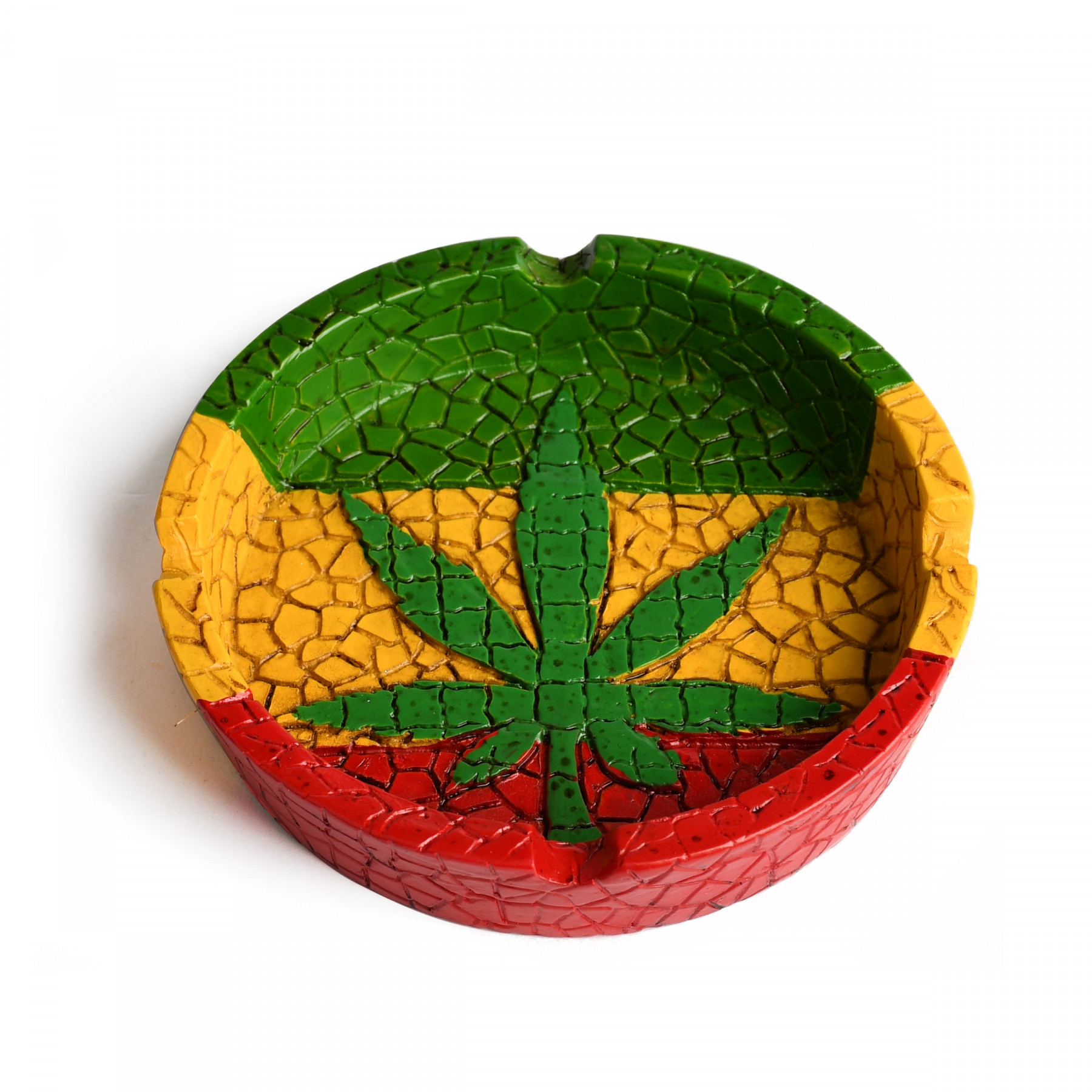 Multi Coloured Leaf Ashtray