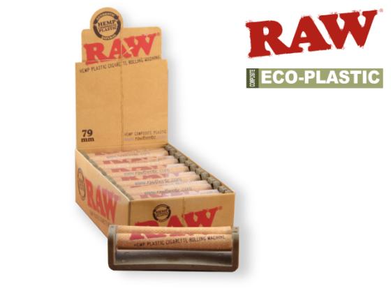 Raw Hemp Plastic Roller - 79mm