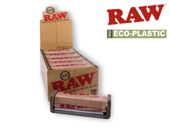 Raw Hemp Plastic Roller - 70mm