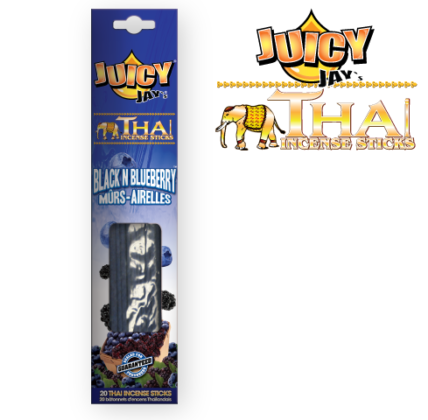 Juicy Jay's Thai Incense Sticks - Black N' Blueberry