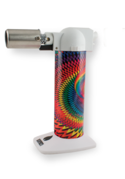 "Newport 6"" Wavy Torch Lighter - White"