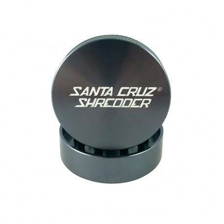 """Santa Cruz Shredder 2-Piece Grinder - 2.75"""", Gunmetal Grey"""