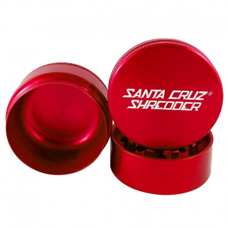 Santa Cruz Shredder 3-Piece Grinder - Red, 2.75
