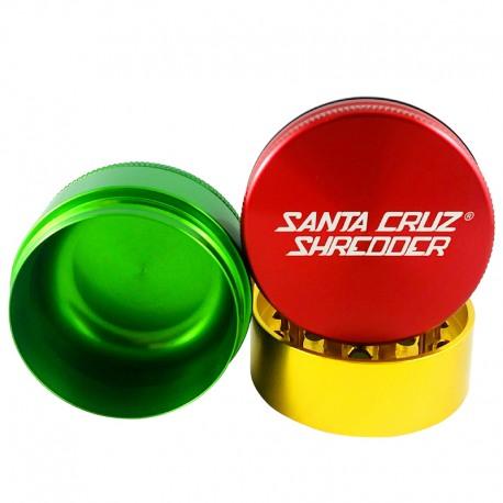 Santa Cruz Shredder 3-Piece Grinder - Rasta, 2.75