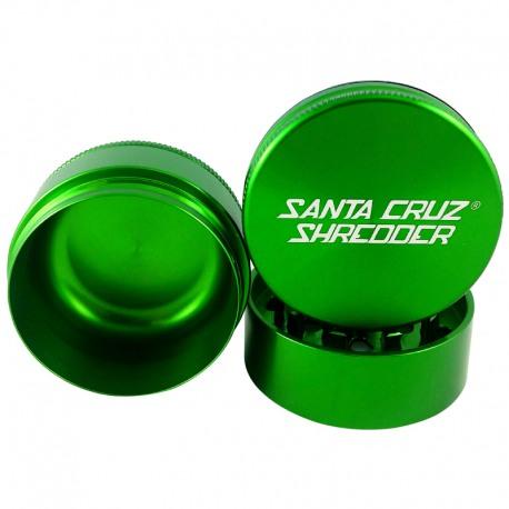 "Santa Cruz Shredder 3-Piece Grinder - Green, 2.2"""