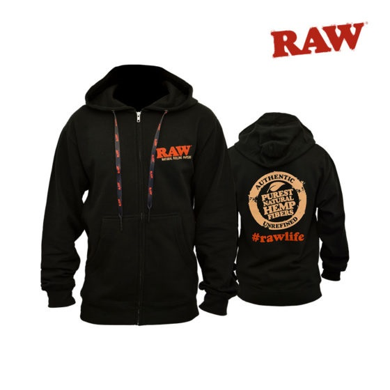 RAW Zipper Hoodie - Small