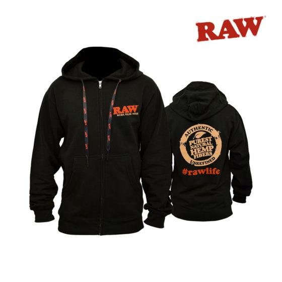 RAW Zipper Hoodie - Large