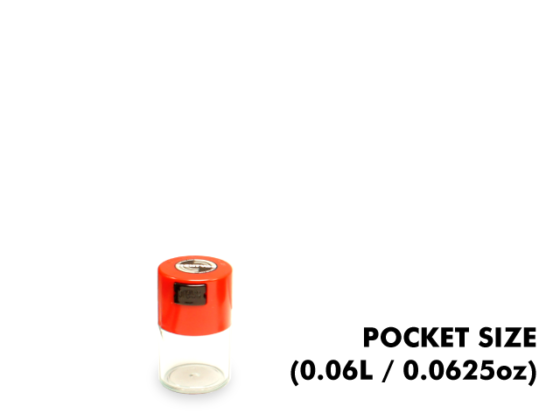 TightVac Pocket Cases - Clear with Red Cap