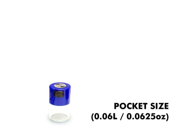 TightVac Pocket Cases - Clear with Blue Cap