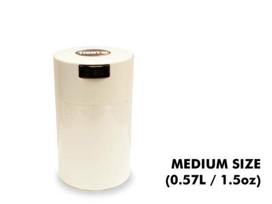 TightVac Medium Cases - White with White Cap