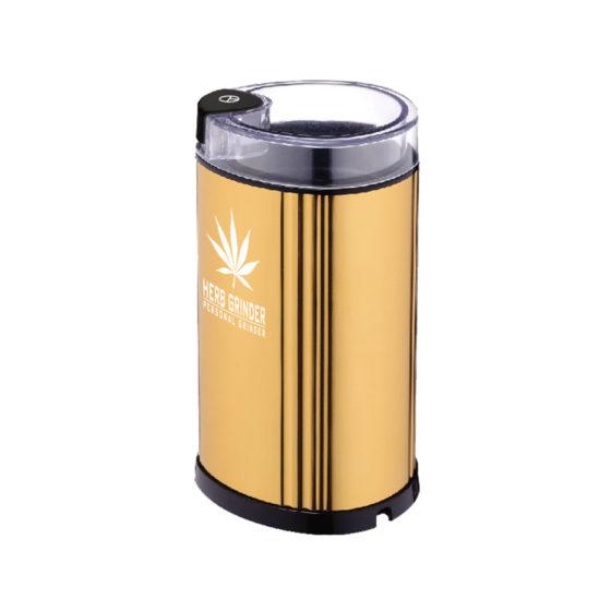 Herb Grinder Electric Grinder Party Size - Gold