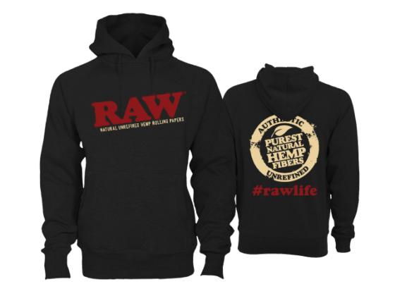 Raw Hoodie - Black, Large