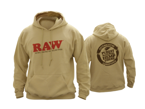 Raw Hoodie - Sand, Large