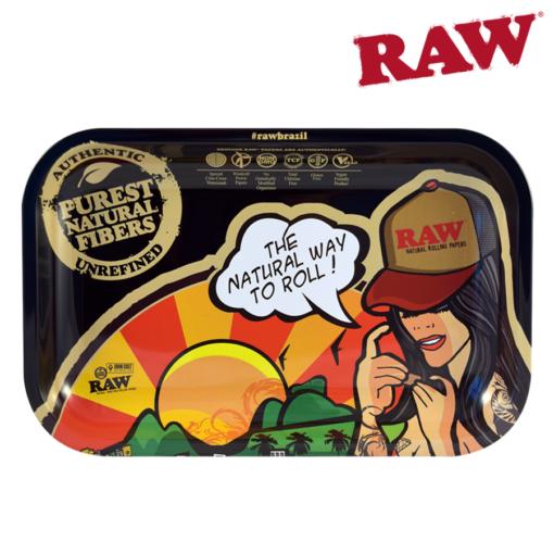 Raw Brazil Rolling Tray- Small