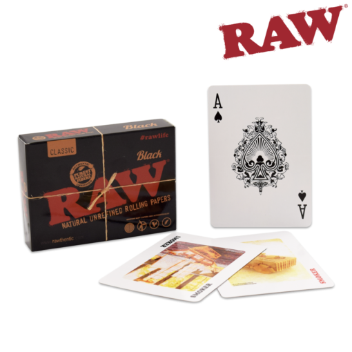 Raw Playing Cards - Black