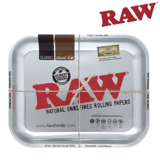 Raw Steel Rolling Tray - Large